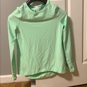 Lululemon Ivivva top gentle green size 14